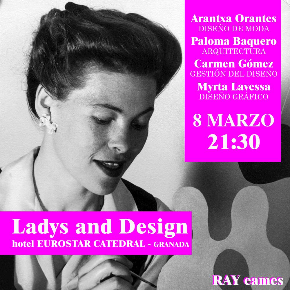 Cartel Mesa Redonda 'Ladies and Design'